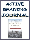 All Quiet on the Western Front: Active Reading Journal
