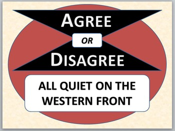 ALL QUIET ON THE WESTERN FRONT - Agree or Disagree pre-rea
