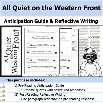 All Quiet on the Western Front - Anticipation Guide & Reflection