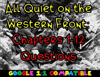 All Quiet on the Western Front: Chapters 1-12 Questions
