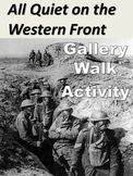 All Quiet on the Western Front Gallery Walk: Writing & Image Analysis