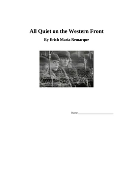 All Quiet on the Western Front Lesson Plan Unit