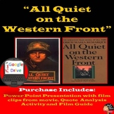World War I    All Quiet on the Western Front   PPT Introduction & Movie Guide