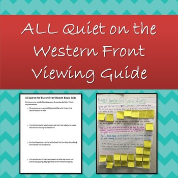 All Quiet on the Western Front Student Movie Guide & Reflection Activity