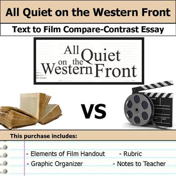 All Quiet on the Western Front - Text to Film - Compare & Contrast Essay Bundle