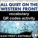 All Quiet on the Western Front Vocabulary QR Codes Activity