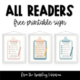 All Readers Sign | FREE PRINTABLE