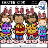 All Ready For Easter Kids Clip Art - Whimsy Workshop Teaching