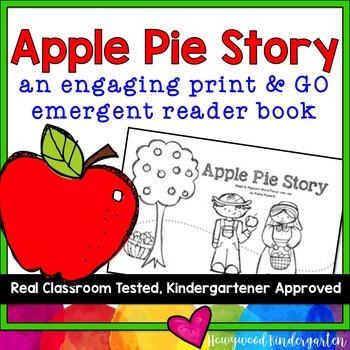 """Apple Pie Story"" Rhyming Emergent Reader Book Makes Sight Words & Reading FUN!"