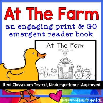 """""""At the Farm"""" Adorable Emergent Reader Book"""