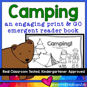 """All Ready to Read!  """"Camping"""" Emergent Reader Book"""