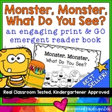 """Monster, Monster, What Do You See?"" Rhyming Emergent Read"