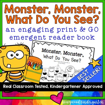 """""""Monster, Monster, What Do You See?"""" Rhyming Emergent Read"""