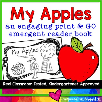 """""""My Apples"""" An Engaging Emergent Reader Book! Learn Sight"""