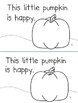 """All Ready to Read!  """"This Little Pumpkin"""" Emergent Reader Book"""