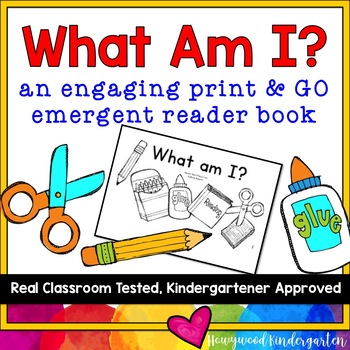 """What Am I?"" Emergent Reader Book for Back to School & Sight Words!"