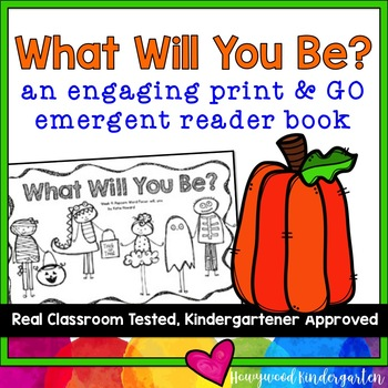 """""""What Will You Be?"""" Rhyming Emergent Reader Book for Sight"""