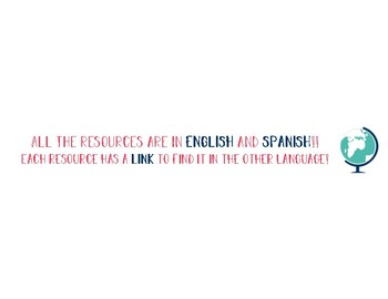 All Resources are in Spanish and English!!