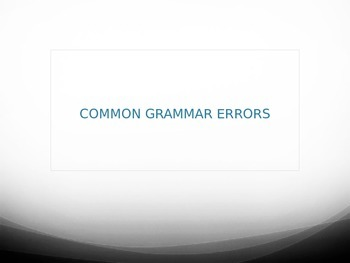 All Right Grammar Power Point with Formative Assessment