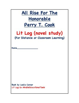All Rise For The Honorable Perry T. Cook Lit Log
