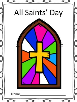 All Saints' Day Book and Prayer Page