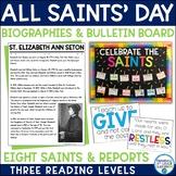 All Saints' Day Bundle- Saint Biographies & Bulletin Board