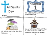 All Saints' Day Mini Book/Coloring Pages/Prayer Pages