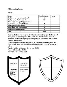 All Saints Day Shield