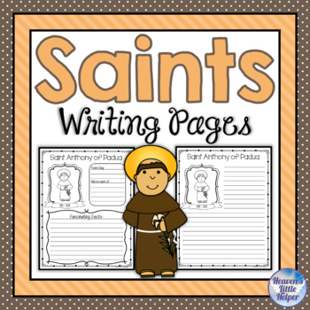 All Saints Writing Grades 3 - 6 {Heaven's Little Helper}