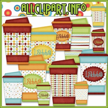 All Seasons Latte To Go Cups Clip Art