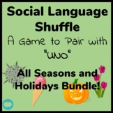 All Seasons Social Language Shuffle Speech and Language Activity -pairs with UNO