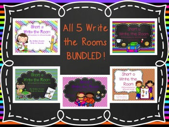 All Short Vowel Write the Rooms! {BUNDLE!}