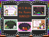 All Short Vowel Write the Rooms! {BUNDLE!}