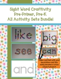 All Sight Word Craftivities Bundle - Pre-Primer, Pre-K Words