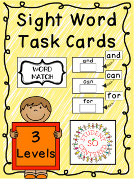 All Sight Word Task Boxes BUNDLE - English & French