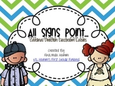 All Signs Point To- Cardinal Direction Classroom Labels Aq