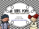 All Signs Point To- Cardinal Direction Classroom Labels Bl
