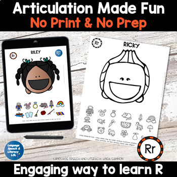 No Print Articulation of R in Words & Sentences Speech Therapy Intervention