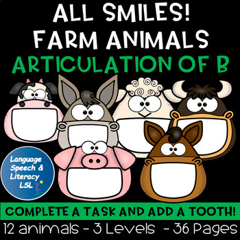 No Print Articulation of B in Words & Sentences with Farm Animals