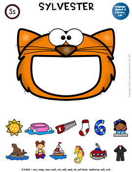 No Print Articulation of S in Words & Sentences with Pets for Speech Therapy