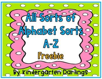 All Sorts of Alphabet Sorts: A to Z Freebie