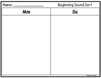 All Sorts of Alphabet Sorts: Formation & Beginning Sound Sorts Set 2