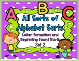 All Sorts of Alphabet Sorts: Formation & Beginning Sound S