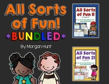 All Sorts of Fun 1 & 2! *BUNDLED* {9 ELAR sorting stations}