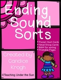 Ending Sound Activities Printables Literacy Stations Centers
