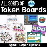 All Sorts of Token Boards Digital + Paper Options {Editabl