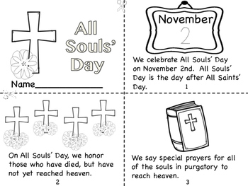 All Souls' Day Mini Book/Coloring Pages