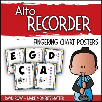 All Star Alto Recorder Fingering Charts! By David Row At Make