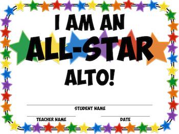 All Star Alto Recorder Fingering Charts!