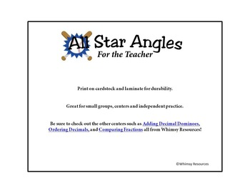 All Star Angles Obtuse Acute Right Math Center